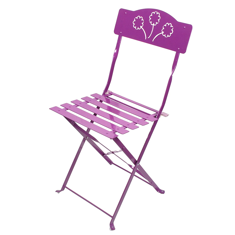 Chaises pliantes Jardin LIFEDECO Prune/Chaise Pliante A Lattes pour ...