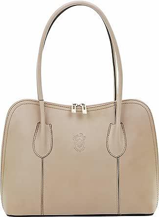 Primo Sacchi® Italian Smooth Leather Hand Made Classic Style Long Handled Handbag Grab Bag or Shoulder Bag. Includes a Protective Storage Bag