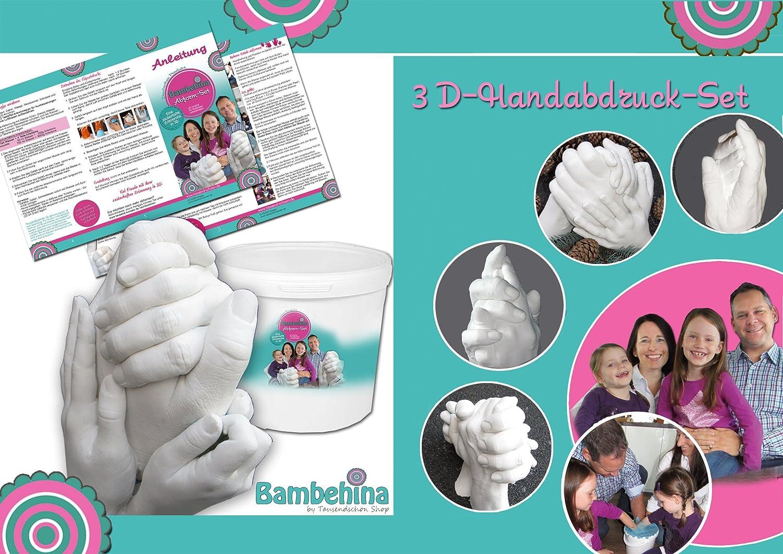 3D-Handabdruck-Set für Familie oder Großeltern - Hochzeitspaar - Kinder - Babys - ...eine zauberhafte Erinnerung in
