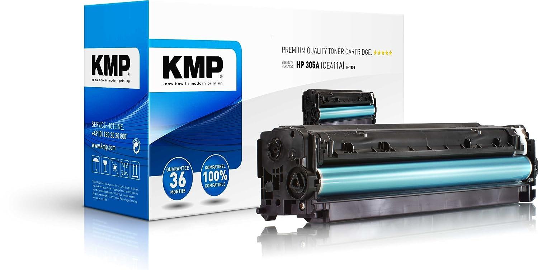 KMP H-T158 - Tóner CE411A HP 305A CE411A Tóner 7f00fa