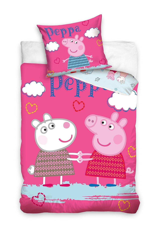 b7688373cf670f Parure de lit de lit pour enfants 140 x 200 cm Peppa et Suzy Mouton Amazing