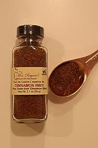 Mrs. Bryant's Cinnamon Nibs -Ground Cinnamon Stick 2 Pack (Net wt. 2.1 oz per jar - 1/2 cup volume)
