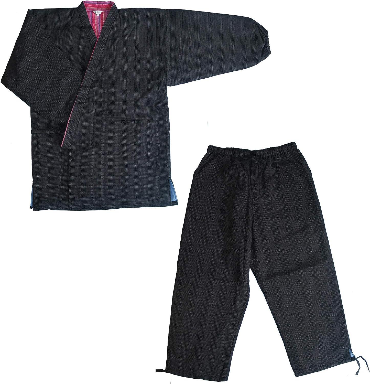 Details about  /Surugajino Samueya Men/'s for Wintter Kimono SAMUE Work clothes big size