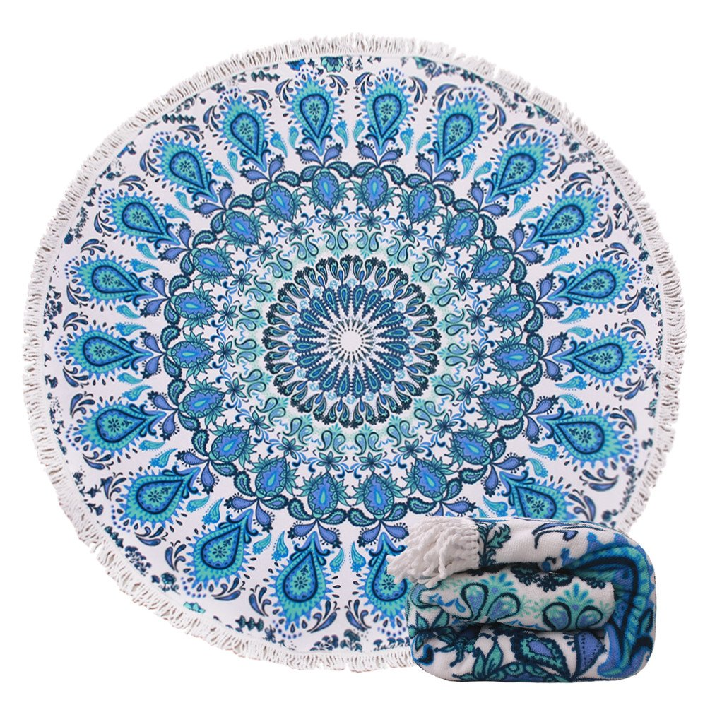 The Genovega Blue Boho Mandala Towel travel product recommended by Laurice Wardini on Lifney.