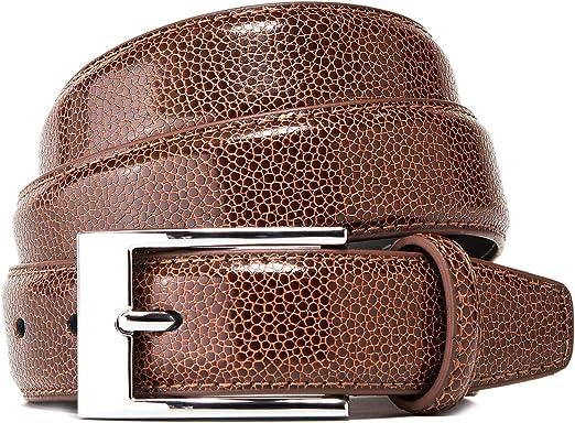 Damen//Herren Ledergürtel aus Echtem Rindleder 30mm breit Cognac