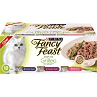 Purina Fancy Feast Grilled in Gravy Wet Cat Food Variety Pack - 85 g (12 Pack)