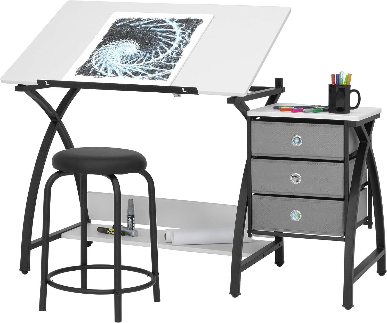 Amazon Com Sd Studio Designs 13326 Comet Center With Stool Black
