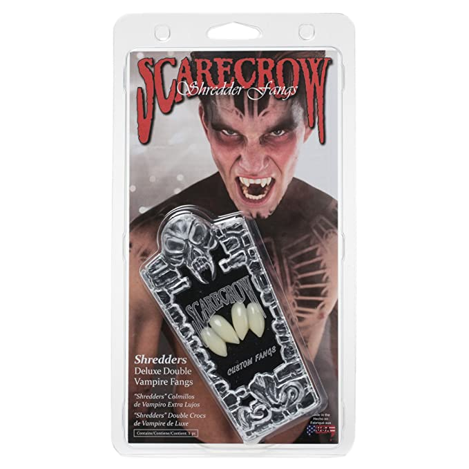 Amazon Scarecrow Shredders Double Vampire Fangs Clothing