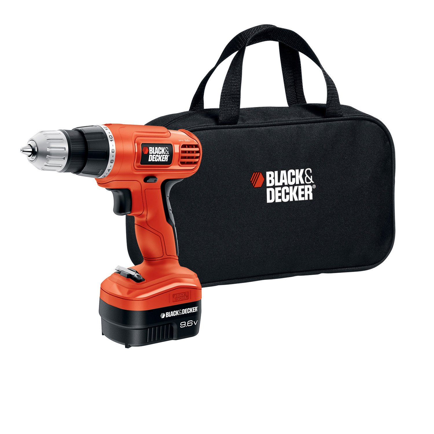 Black & Decker GCO9602SB 9.6-Volt Cordless Drill/Driver with Storage Bag