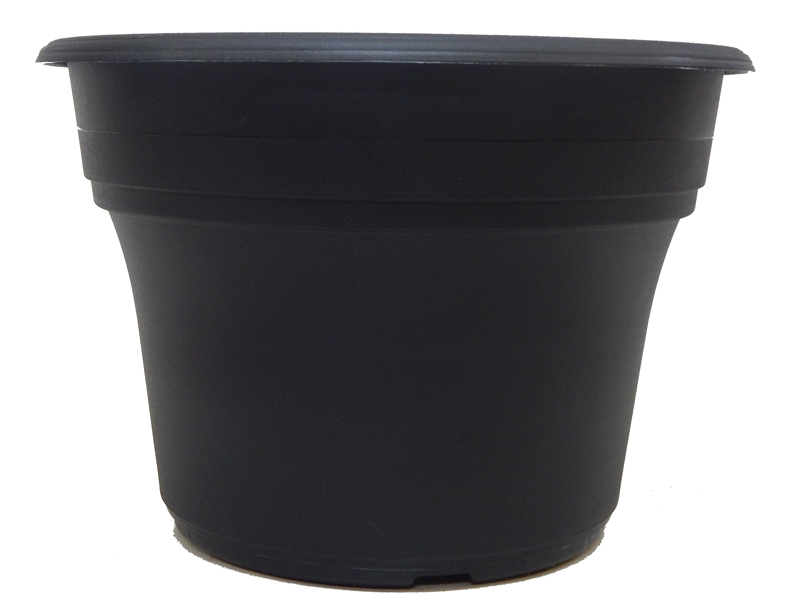 DILLEN 3 New 10 Inch Round plastic Decorative Fancy Planter, Great Pot For Home Or Patio Garden,Color Black