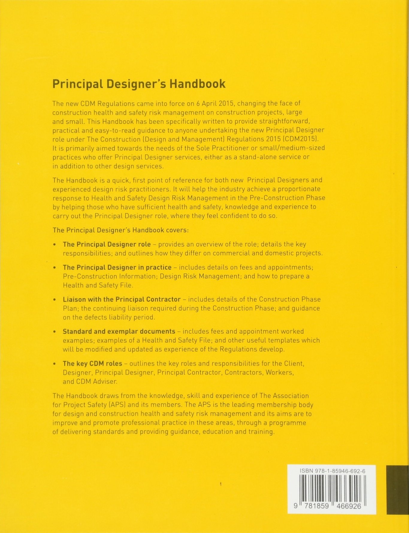 Principal Designer S Handbook Association For Project Safety 9781859466926 Amazon Com Books