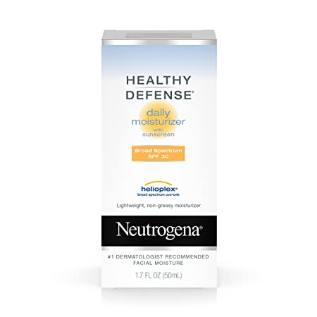 Neutrogena Healthy Defense Daily Moisturizer With Broad Spectrum Spf 30 Sunscreen, 1.7 Fl. Oz