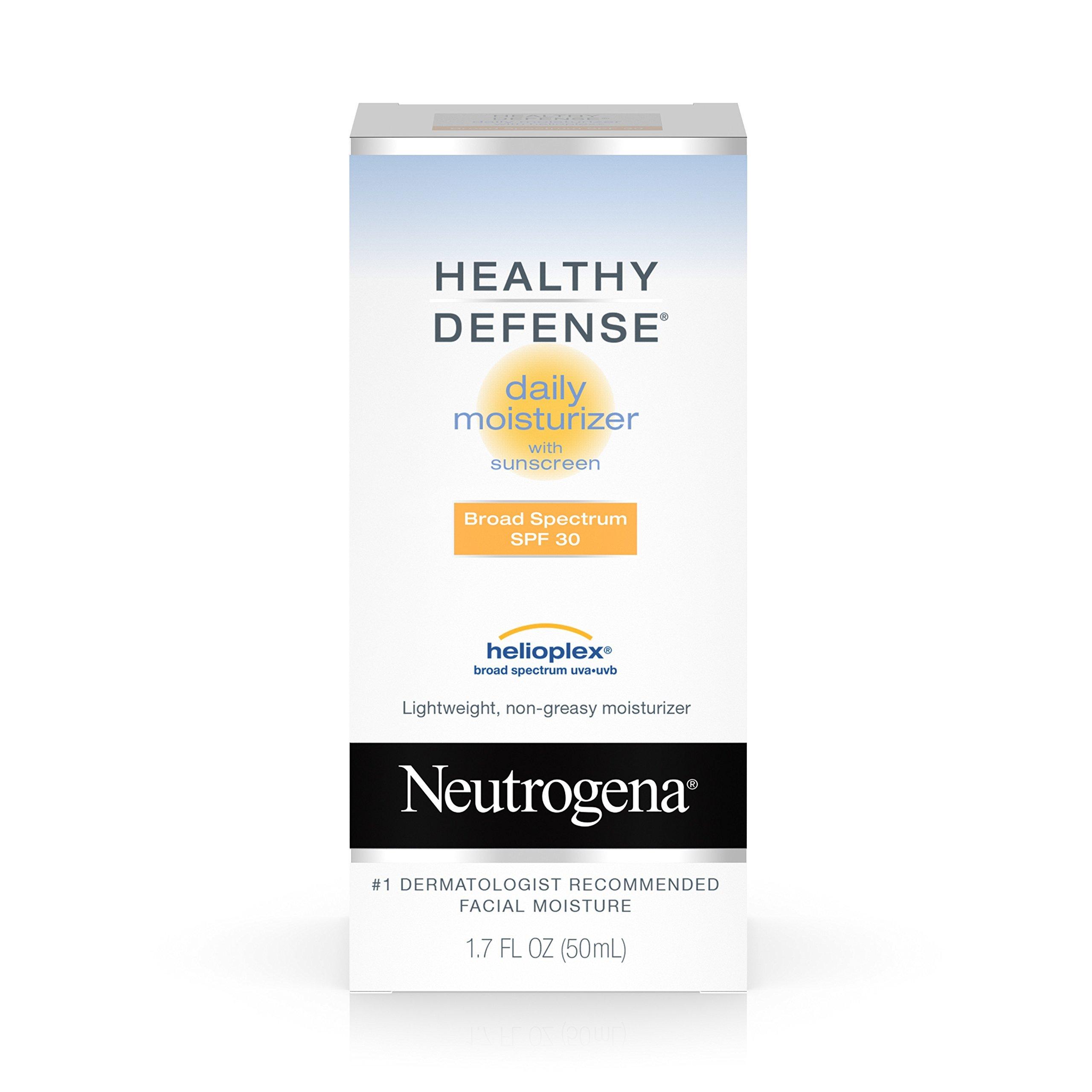 Neutrogena Healthy Defense Daily Moisturizer For Sensitive Skin With Broad Spectrum Spf 30 Sunscreen, 1.7 Fl. Oz.