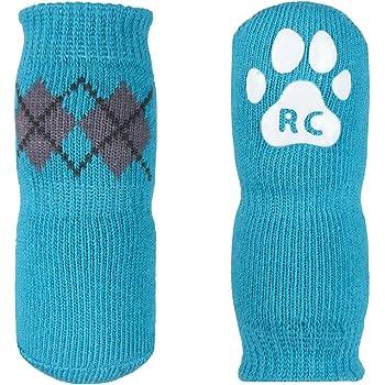 amazoncom rc pet products pawks dog socks paw protection medium aqua argyle pet supplies
