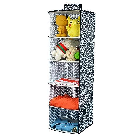 Organizador para armario Kealive con 5 estantes para colgar en tela de poliéster de 30 x