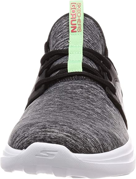 Skechers Womens Go Run Fast Trainers, Black (Black Textile/Multi ...