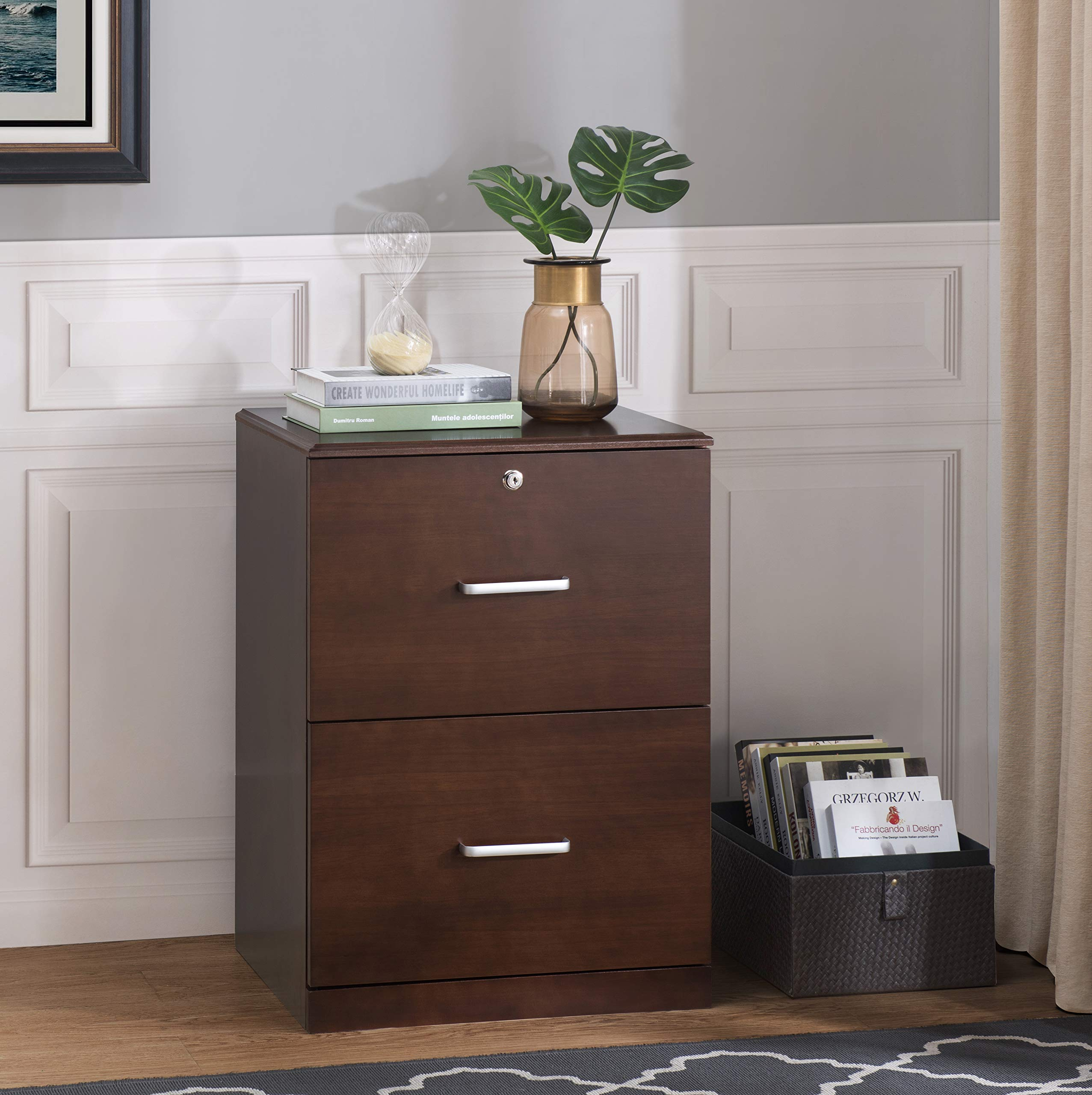 2L Lifestyle Henley File Cabinet, Brown