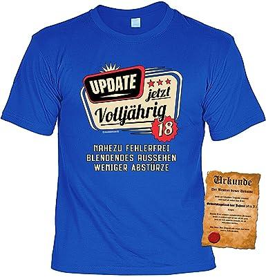 T Shirt 18 Geburtstag Geburtstagsshirt Sprüche 18 Jahre Update