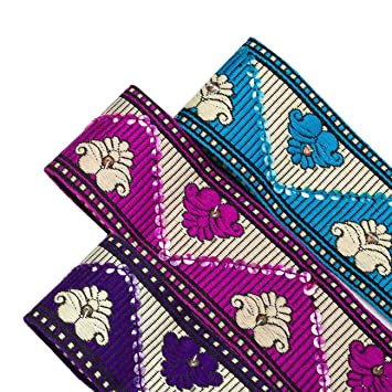 Neotrim Indian Sari Salwar Kameez Sequin Embroidery Ribbon Wholesale ...