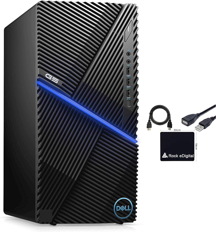 2021 Newest DELL G5 Gaming Desktop PC Intel 6-Core i5-10400F 8GB DDR4 RAM 256GB M.2 NVMe SSD NVIDIA GeForce GTX 1650 4GB GDDR6 HMDI DP USB C WiFi AX Bluetooth RJ-45 Windows 10 Home w/RE Accessories
