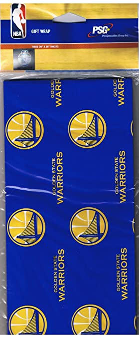 Amazon.com: NBA Golden State Warriors Gift Wrap Wrapping Paper ...