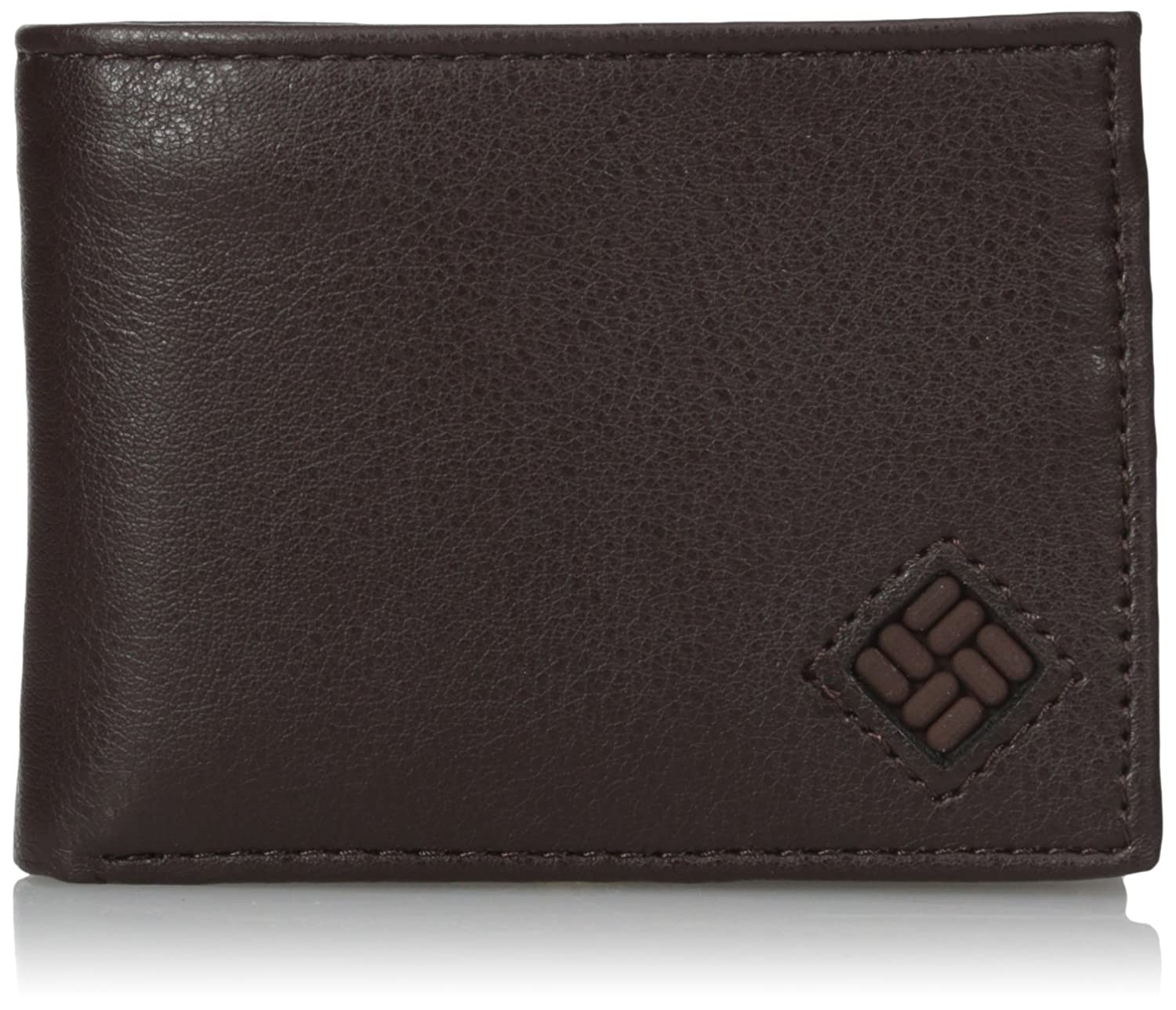 Columbia Mens Leather Extra Capacity Slimfold Wallet,Brown ...