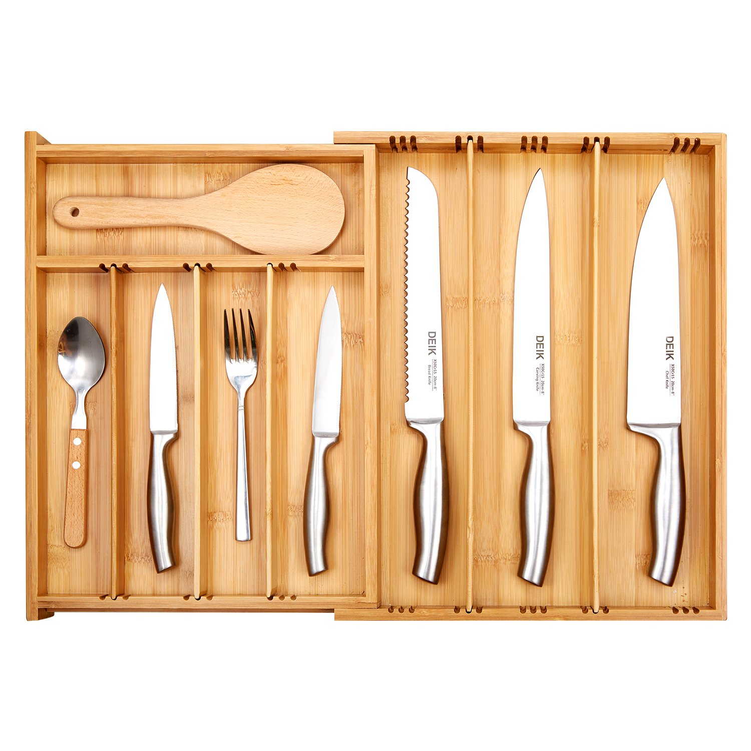 strt lid mple with silverware walmart organizer target wood drawer sert flatware amazon cusm narrow