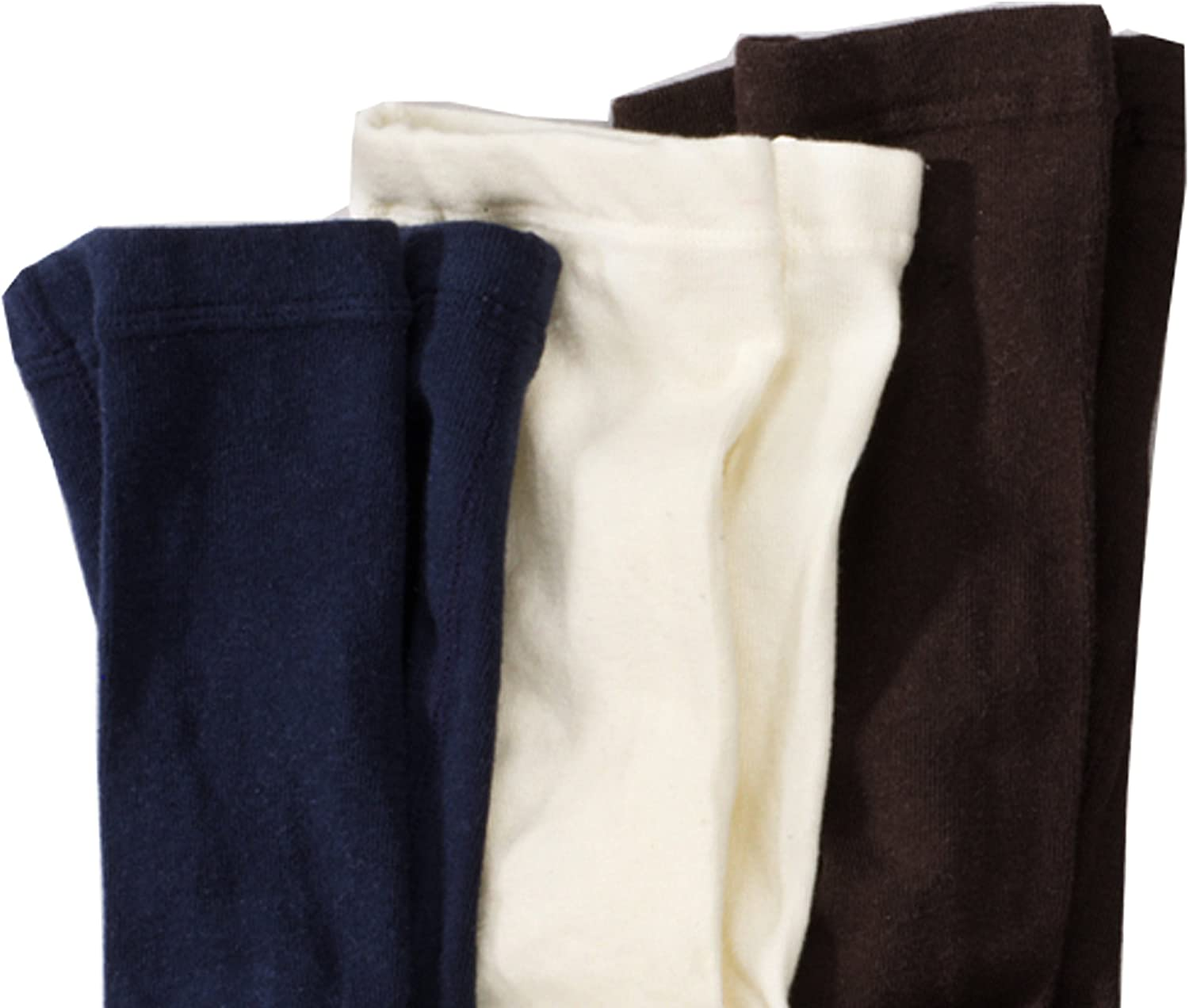 Baby tights- 3 Pack Navy uni Leggings Solid Colours Brown Size 62-146 Ecru Wellyou kids Childrens Girls and Boys Tights