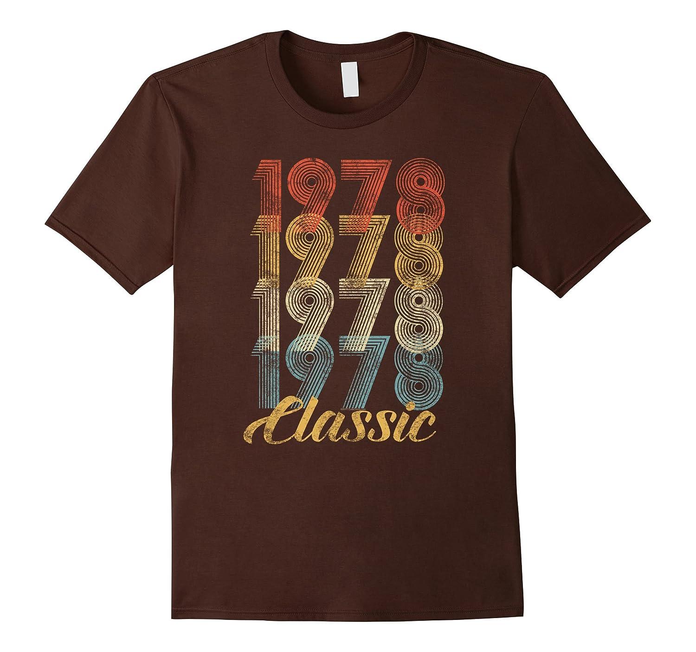 CuteComfy 40th Birthday Gift Vintage 1978 T-Shirt Men Women-mt