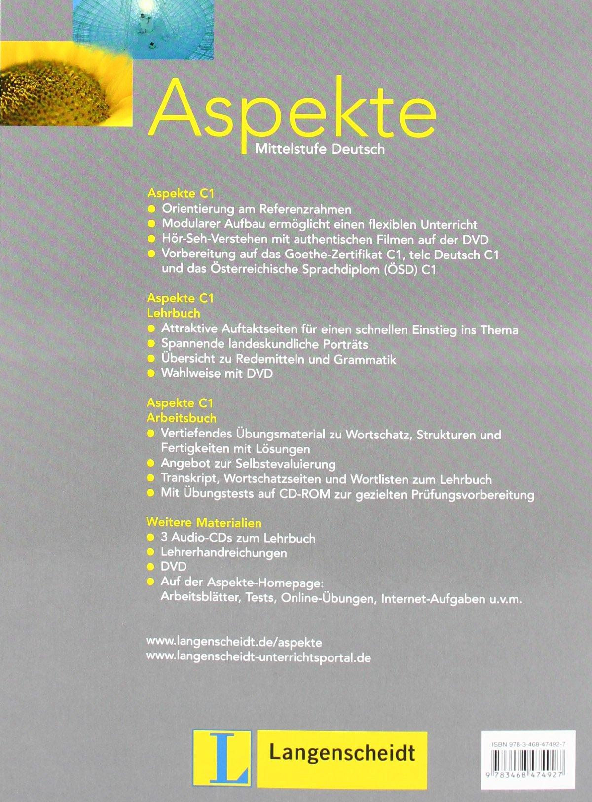 Aspekte: Arbeitsbuch 3 MIT Ubungstests Auf CD-Rom (German Edition ...
