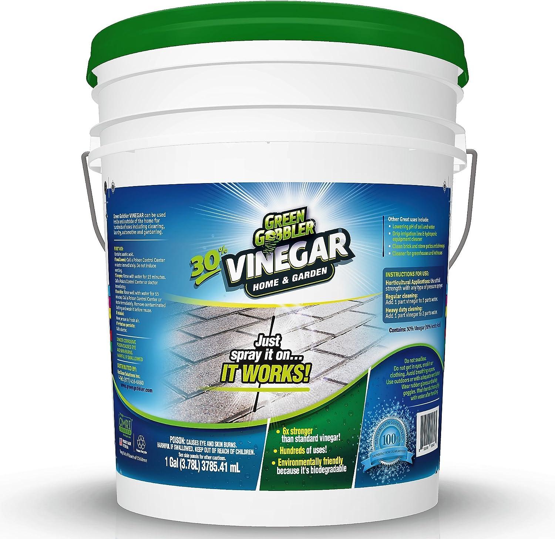 Green Gobbler Ultimate Vinegar Home & Garden - 30% Vinegar Concentrate, Hundreds of Uses! 5 Gallon Pail