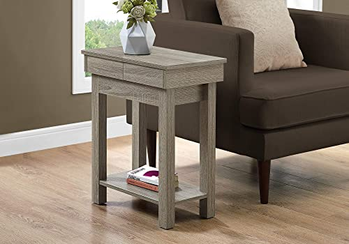 Monarch Specialties ACCENT TABLE, One Size, DARK TAUPE