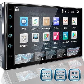 Radio de coche con navegador (BT2D7018A) de Tristan Auron, con pantalla táctil de