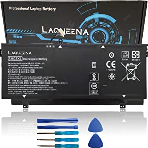 Laqueena SH03XL Laptop Replacement Battery for HP Spectre x360 13-w000 13-w021tu 13-w023dx 13-ac033dx Convertible PC HSTNN-LB7L 901308-421 859356-855 859026-421 TPN-Q178 SHO3XL 11.55V 57.9WH 3-Cell