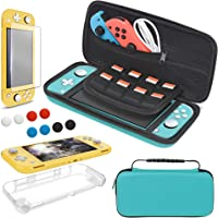 4 in 1 Accessories Kit Compatible with Nintendo Switch Lite, YUANHOT Travel Bag, Carrying Case & Protective Case…