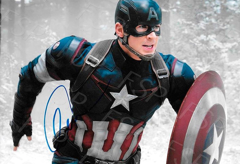 Chris B07CLQPF83 Evans Autographレプリカポスター印刷 – – キャプテンアメリカ Chris B07CLQPF83, 大朝町:e84fd786 --- hanjindnb.su