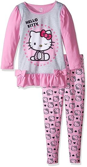 41c8ea69d Amazon.com: Hello Kitty Girls' Big 2Pc Sleepwear Legging Set, Pink ...