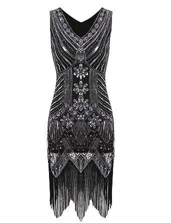 Pailletten Kleider Damen,Sondereu Abendkleid Elegant Vintage 1920er ...