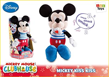 Mickey Mouse Kiss Kiss Sound Plush Doll Peluche Interactive IMC Toys- 181496