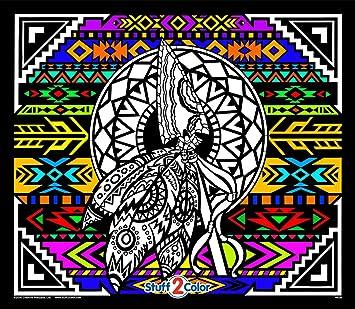 Amazon.com: Stuff2Color Arrow - Giant Fuzzy Velvet Coloring Poster ...
