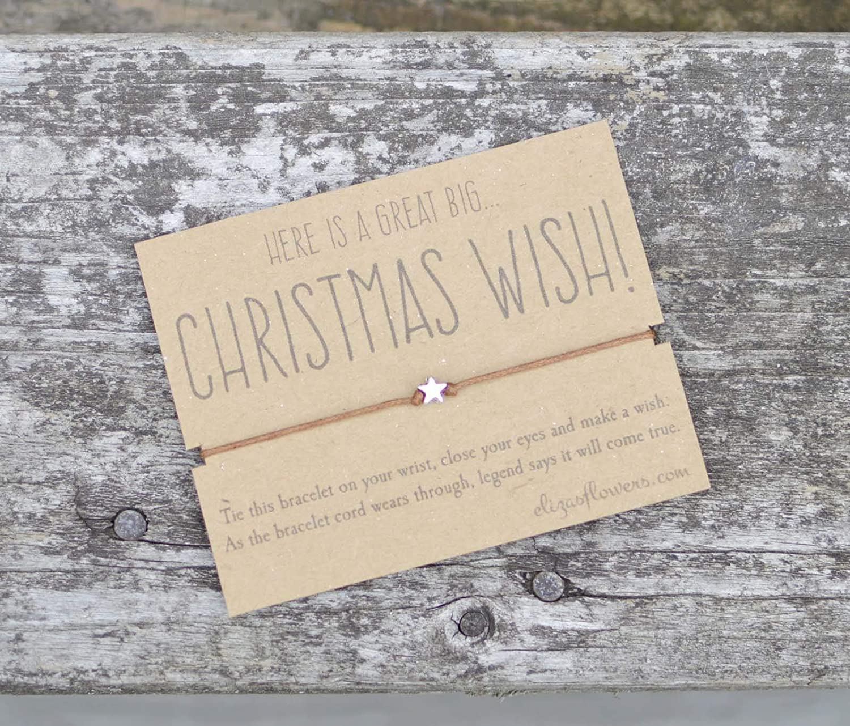 All I Want For Christmas Is You Star Wish Bracelet//Stocking Filler//Secret Santa
