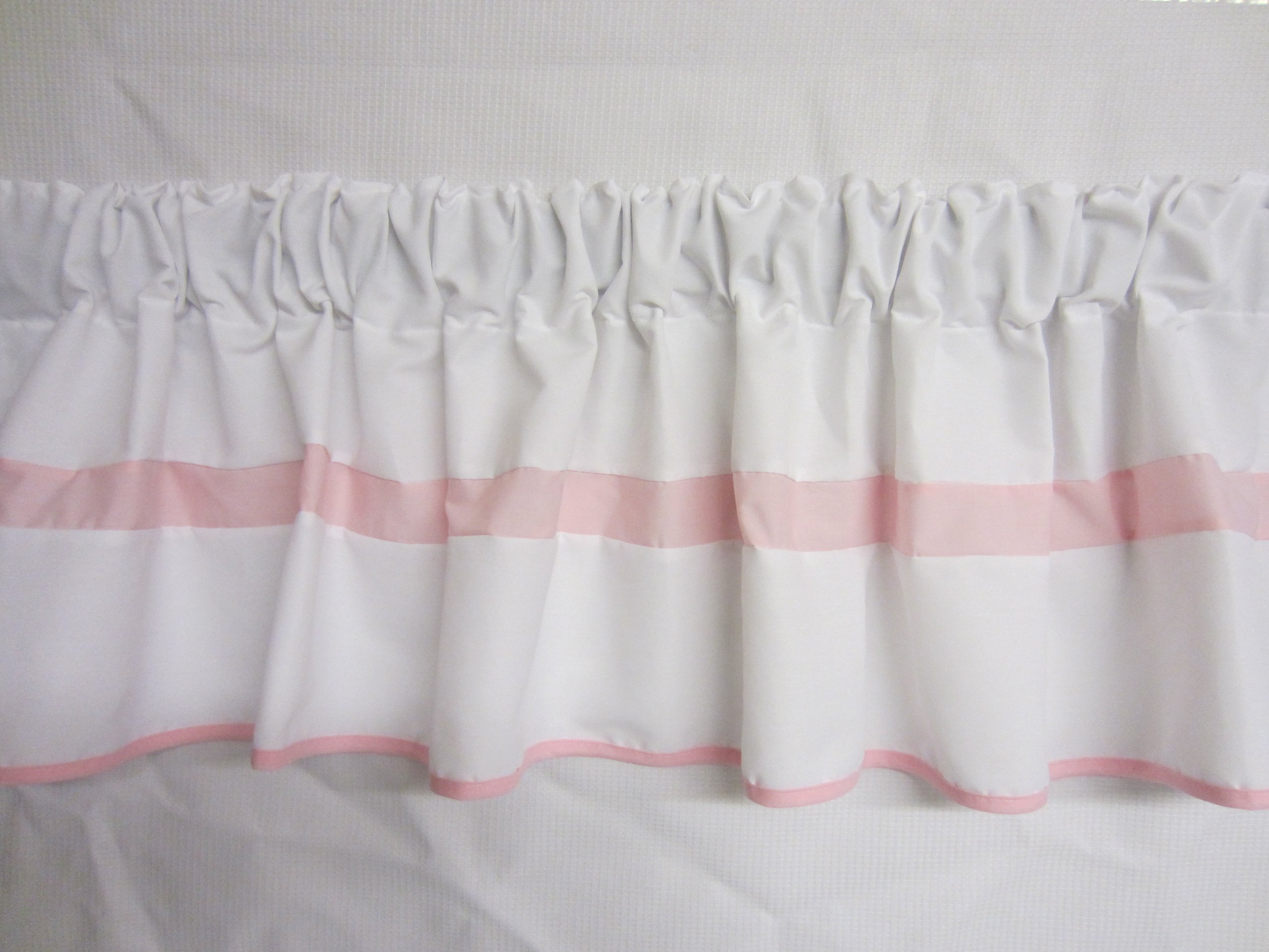 Baby Doll Bedding  Modern Hotel Style Window Valance, Pink