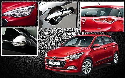 Auto Pearl Chrome Plated Accessory for Hyundai i20 Elite (Set of 4