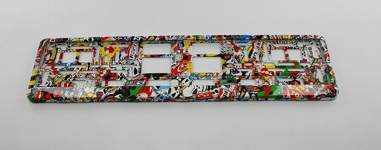 ZentimeX Z788697 Kennzeichenhalter Kennzeichenhalterung bunt f/ür DE-Standard Kennzeichen 1 St/ück