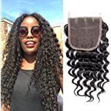 MQYQ Hair 3 Bundles Brazilian Virgin Hair Deep Wave Hair Extensions 8A Grade Unprocessed Human Hair Weave Natural Deep Curly Remy Hair Natural Color 95-100g/pc