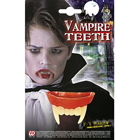 WIDMANN Denti da Vampiro per Bambino Unisex 400517624cf7