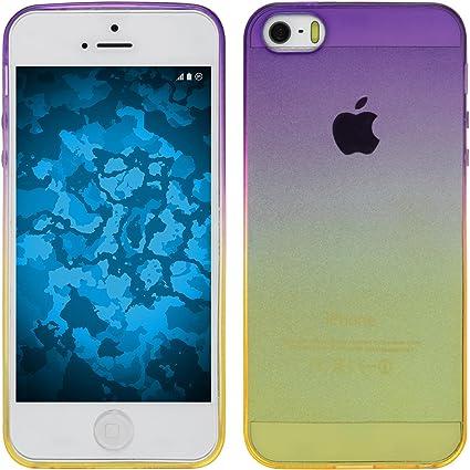 602be022e80 PhoneNatic Funda de Silicona Compatible con Apple iPhone 5 / 5s / SE -  Ombrè Design