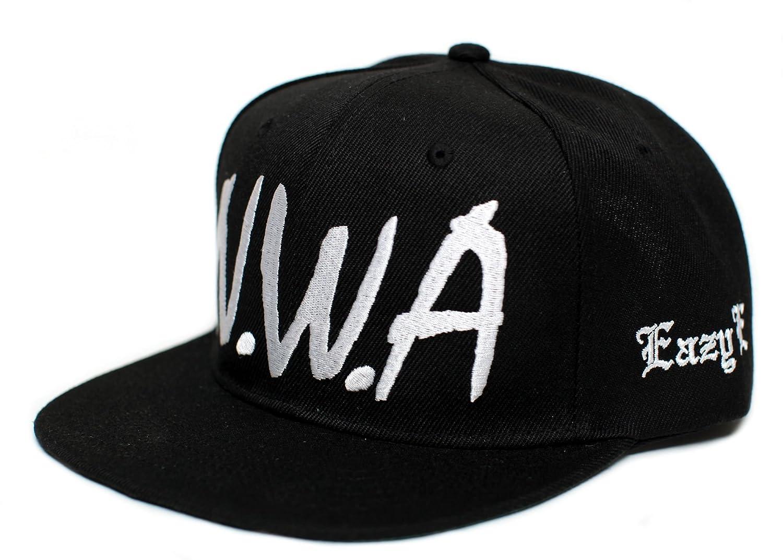 d9fa2999fd0 NWA New Eazy E N.W.A Vintage Flat Bill Cap Hat Snapback Unisex Adult Black