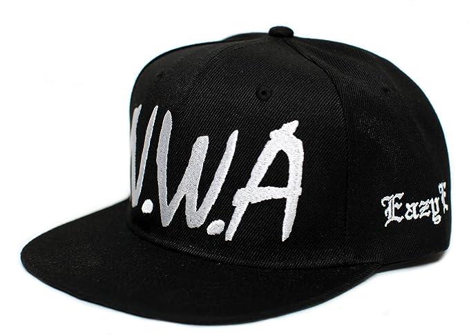 0c64d93c4 NWA New Eazy E NWA Vintage Flat Bill Cap Hat Snapback Unisex Adult Black