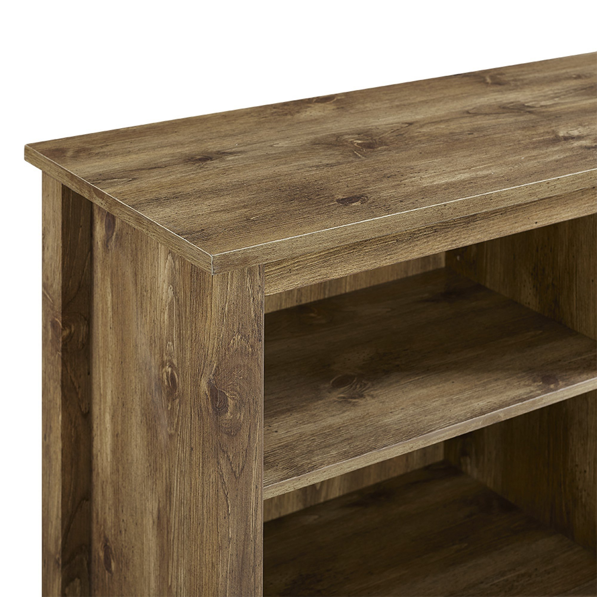 WE Furniture 70'' Wood Media TV Stand Console with Fireplace - Barnwood
